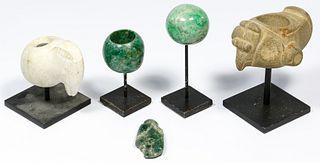 Pre-Columbian Style Stone Mace Head Assortment