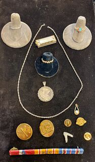 Grouping of Jewelry and Military Devices