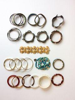Grouping of Costume Jewelry Bracelets/Bangles