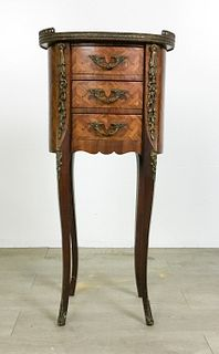 French Louis XVI Marquetry Side Table