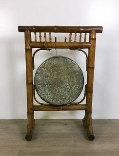 Gong on Bamboo Stand
