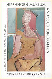 Willem de Kooning, Opening Exhibition Poster, Hirschhorn Museum & Sculpture Garden