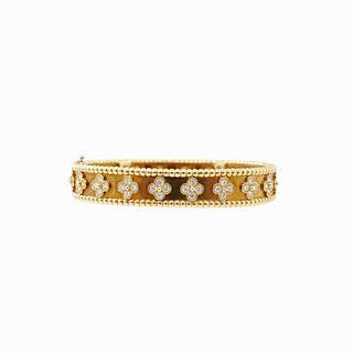 Van Cleef & Arpels Diamond Bangle Bracelet
