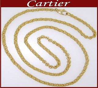 Rare Cartier Yellow Gold Chain Retail $9,500