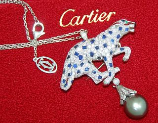 Cartier Panther Pearl Brooch Retail $100,000