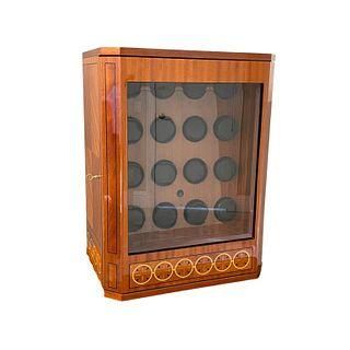 Bergamo Italian 16 Slot Wooden Watch Winder Box
