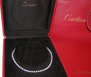 Cartier 15ct Diamond Necklace Retail $100,000