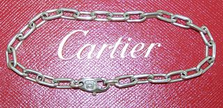 Cartier 18K White Gold Link Chain Retail $4000