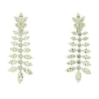23.41TCW Diamond Chandelier Earrings