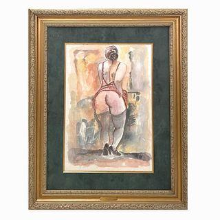 """George Grosz (GERMAN, 1893–1959) """"Nude"""""""