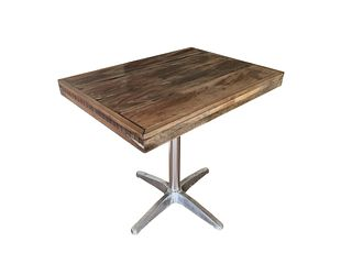Rectangular Patio Table In Teak & PE Wood & Aluminum