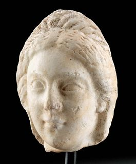 Published Roman Marble Head of Young Woman / Venus