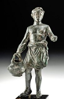 Roman Bronze Male Holding a Basket, ex-Royal Athena