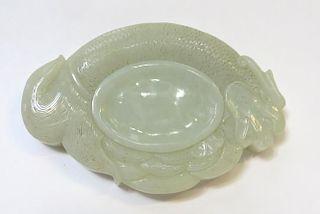 White Jade Ink Stone