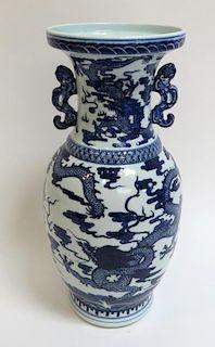 Blue & White Dragon Vase