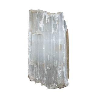 "Satin Spar Crystal Specimen 11"" W x 18"" L x 7"" D"