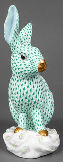Herend Porcelain Large Rabbit Sculpture