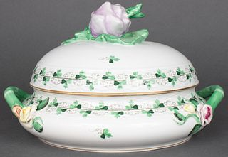 "Herend Porcelain ""Persil"" Covered Tureen"