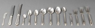 "Gorham ""King Albert"" Silver Flatware, 211 Pieces"