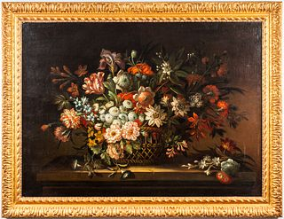 Jean-Baptiste Monnoyer Still Life Oil on Canvas