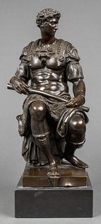 "Sauvage ""Giuliano de Medici"" Bronze Sculpture"