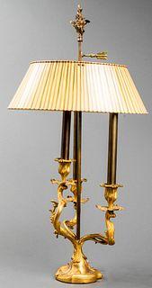 Louis XV Style Rococo Striped Bouillotte Lamp