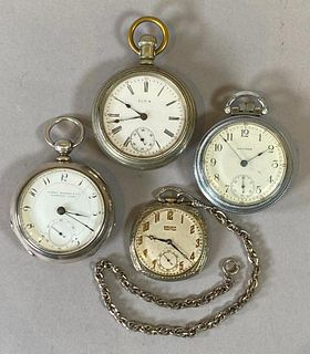 Four Antique Pocket Watches