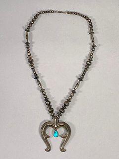 Gilbert Morgan Silver and Turquoise Naga Necklace
