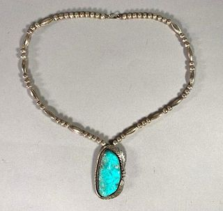 Angela Lee Sterling and Turquoise Necklace