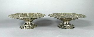 Pair of German 800 Silver Compotes, 19thc.