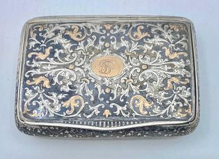 Austrian Silver and Enamel Cigarette Case, 1872