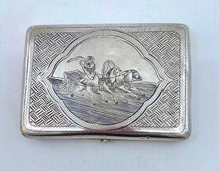 Russian Silver and Niello Cigarette Case