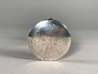 Birks Sterling Silver Powder Compact with Mirror