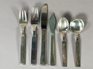W and S Soerensen Sterling Flatware Service