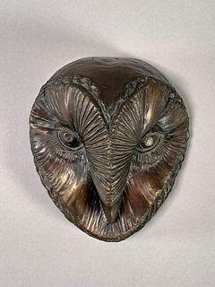 E.Parkman Bronze Owl Head