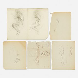 Franz Kline, Untitled (Figure Sketch) (five works)
