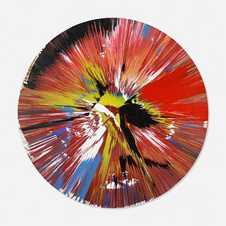 Damien Hirst, Signed Circle Spin Painting