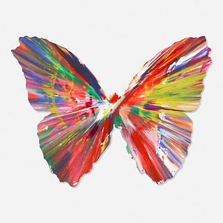 Damien Hirst, Butterfly Spin Painting