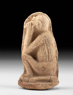Egyptian Pottery Plaque Figure - Baboon Profile