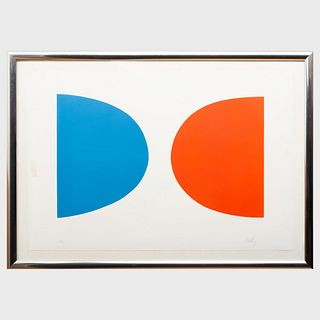 Ellsworth Kelly (1923-2015): Blue and Orange, from Suite of Twenty-Seven Color Lithographs