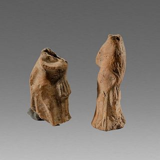 Lot of 2 Ancient Terracotta Figure Fragments c.3rd cent BC.