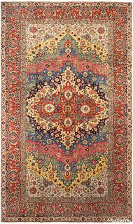 ANTIQUE PERSIAN TABRIZ , 11 ft x 18 ft 4 in (3.35 m x 5.59 m)