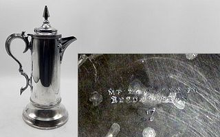 Silver Plated Reed & Barton Pewter Flagon