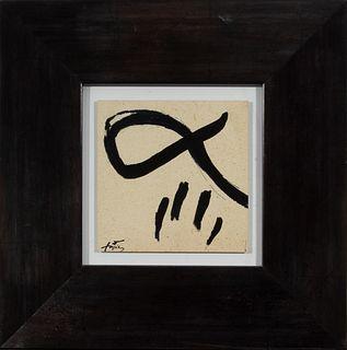"""Antoni Tàpies (Barcelona, 1923-2012)""""Sin título""""."""