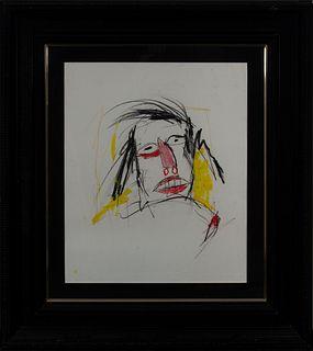 """Jean-Michel Basquiat (Nueva York, 1960-1988)  """"Sin título""""."""