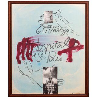 """Antoni Tàpies (Barcelona, 1923-2012) """"600 anys. Hospital de Sant Pau""""."""