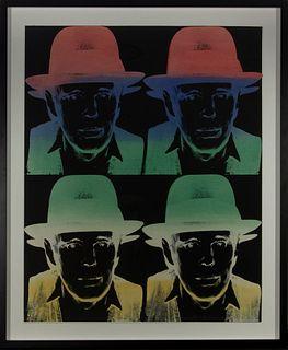 """Andy Warhol (Pittsburgh, 1928-Nueva York, 1987) """"Joseph Beuys. (State II), II. 243"""" Serigrafía. Firmada y numerada 98/150. Se adjunta certificado de H"""