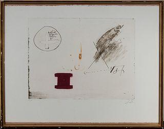 """Antoni Tàpies (Barcelona, 1923-2012) """"Sin título""""."""