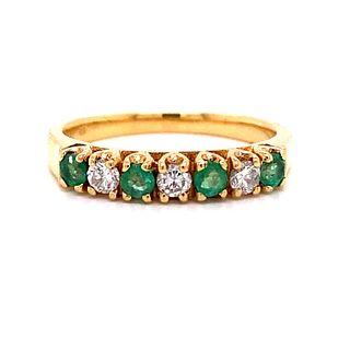 18K Emerald Diamond RingÊ