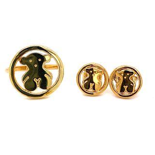 TOUS Camille 18K Set Earrings & Ring